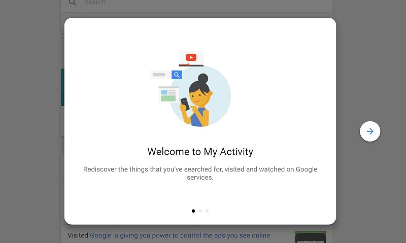 My Activity ابزار جدید گوگل